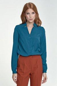 Bluzka z wycięciami - zielony - B71