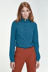 Bluzka ze stójką - zielony - B72