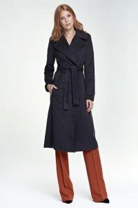 Długi płaszcz - grafit - PL03