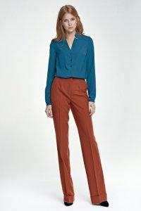 Spodnie z mankietem - rudy - SD26