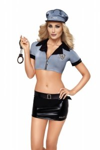 Kostium policjantki 6779 niebieski