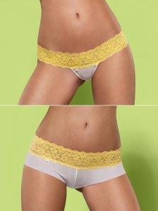Lacea szorty i stringi żółte