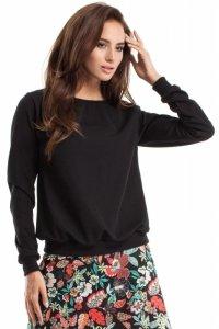 MOE265 Bluza, sweter ze ściągaczem czarna