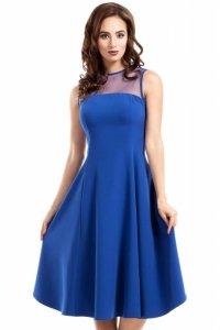 MOE271 sukienka chabrowa