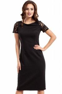 MOE274 sukienka czarna