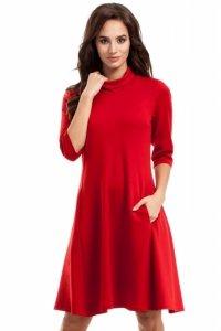 MOE279 sukienka czerwona