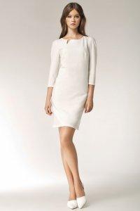 Sukienka - długi rękaw - ecry - S39