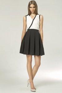 Sukienka - czarny/ecru - S42