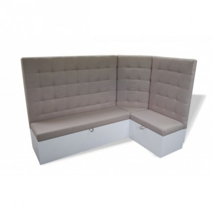 Square Stiched Booth With Storage 10FL Restaurant Booth Seating