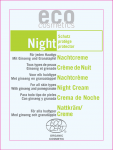 Night - krem odżywczy do twarzy na noc - próbka 2 ml