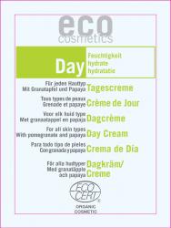 Eco Cosmetics Day - krem nawilżający do twarzy na dzień - próbka 2 ml