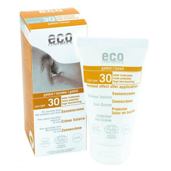 Eco Cosmetics Krem na słońce SPF 30 TONOWANY 75 ml