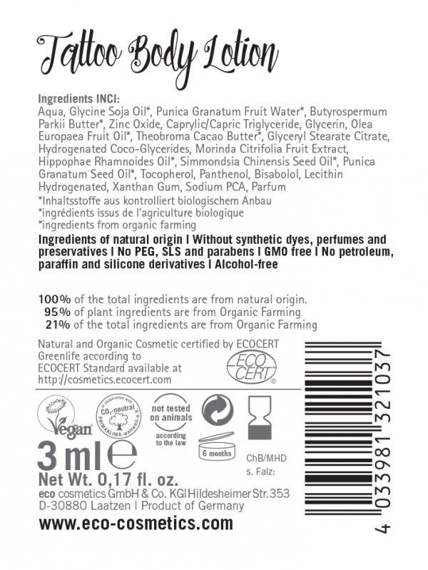 Eco Cosmetics Balsam do ciała dla skóry z tatuażami z ekstraktem z noni Tattoo Care - próbka 3 ml
