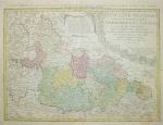 Haas Johann Matthias - {Mapa Dolnego Śląska Spadkobierców Homanna z 1745 r.}: Dvcatvs Silesiae tabvla geographica prima, inferiorem eivs partem, seu novem principatvs, quorum insignia hic adjecta sunt, secundum statum recentissimum complectens. Ad mentem