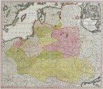 [POLSKA]. Poloniae Regnum ut et Magni Ducatus Lithuaniae Accuratiss. Delineatione. Mapa Polski i Litwy Matthäusa Seuttera starszego wydany w Augsburgu po 1731.