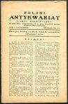 Polski Antykwariat Lamus Heraldyczny - katalog nr 11: X 1937