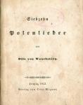 Wenekstern Otto - Siebzehn Polenlieder.