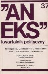 Aneks - kwartalnik polityczny. Nr 37.