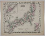 [JAPONIA]. Litografia. Johnson's New Illustrated (steel plate) Family atlas, with descriptions geographical, statistical and historical.