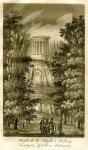 [PUŁAWY]. Swiątynia Sybilli w Puławach. Akwaforta z akwatintą form. 16,3x9,8 na ark. 19,8x12,4 cm.