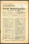 Bazar Literacki - Jakób Jabłonko. Dział antykwarski książek dawnych i wyczerpanych - katalog nr 3: XI 1937