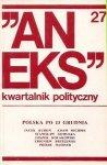 Aneks - kwartalnik polityczny. Nr 27.