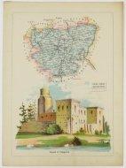 Bazewicz J. M. - Powiat turecki guberni kaliskiej - mapa 1907.