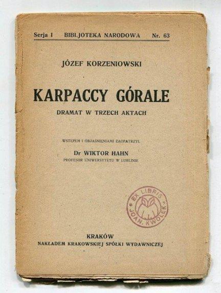 KORZENIOWSKI Józef - Karpaccy górale.