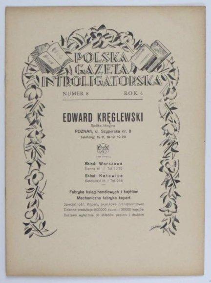 Polska Gazeta Introligatorska. R. 4, nr 8: 20 VII 1931.