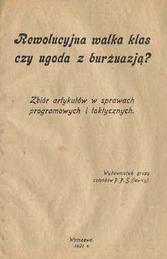 Sochacki Jerzy - Rewolucyjna walka klas czy wygoda z burżuazją