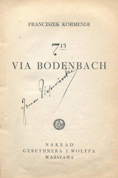 Kormendi Franciszek - 7.15 via Bodenbach.