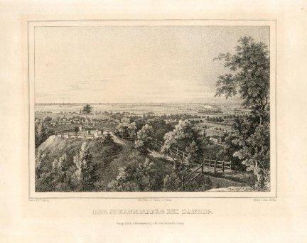 [GDAŃSK]. Der Johannisberg bei Danzig. Litografia 15,4x21,4 cm.