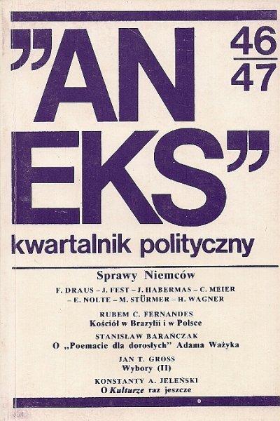 Aneks - kwartalnik polityczny. Nr 46/47.