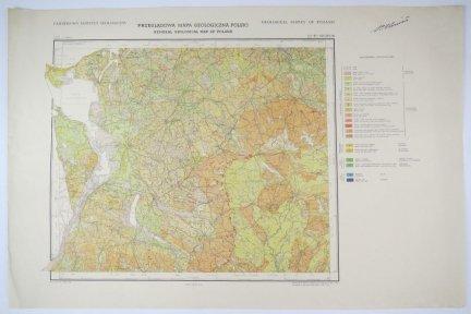 [POMORZE]. Przeglądowa mapa geologiczna Polski. Arkusz B1: Szczecin.