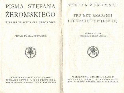 Żeromski Stefan - Projekt Akademii Literatury Polskiej.