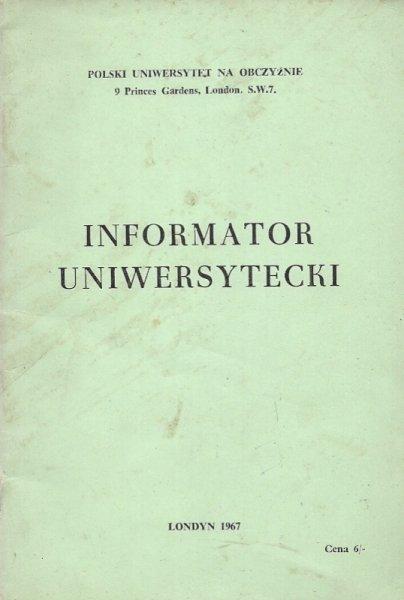Informator Uniwersytecki.