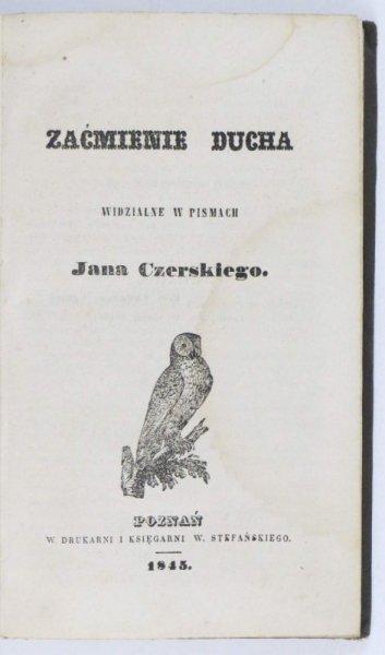 Obrona Prawdy. Pismo miesięczne religii i literaturze poświęcone. T.1: I-VI 1845.