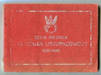 Pawłowski Bronisław - Setna rocznica powstania listopadowego 1830-1930.