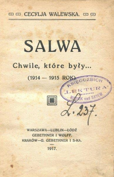 Walewska Cecylja - Salwa. Chwile, które były... (1914-1915 rok).