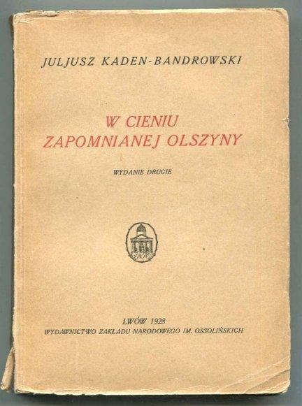 Kaden-Bandrowski Juljusz - W cieniu zapomnianej olszyny. Wyd.II.
