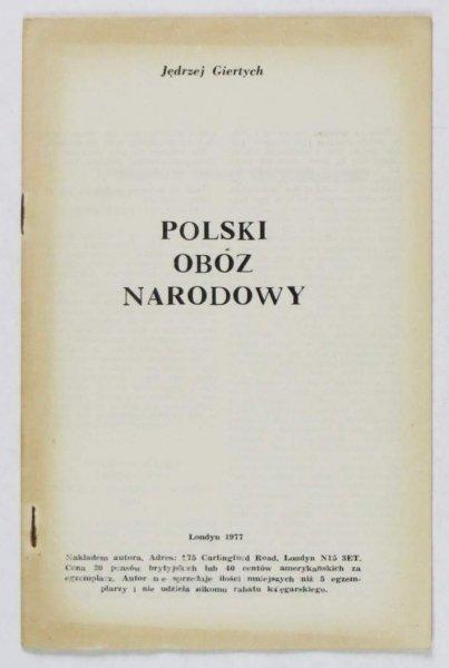 Giertych Jędrzej - Polski obóz narodowy