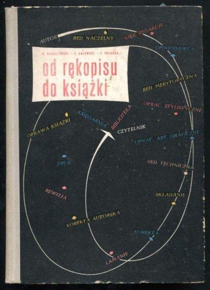 Drabczyński Marian, Galewski Tadeusz, Trzaska Filip - Od rękopisu do książki. 1958.