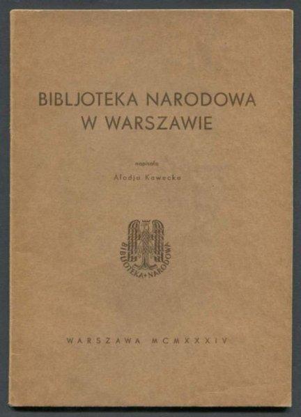 Kawecka Alodja - Bibljoteka Narodowa w Warszawie.