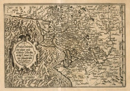 PRUSY. Prussiae Descriptio ante aliquot annos ab Henrico Zellio edita, ab eoq[ue] D. Joanni Clur, Ciui. Gedanensi dedit. Johann bussemecher excudit Coloniae.