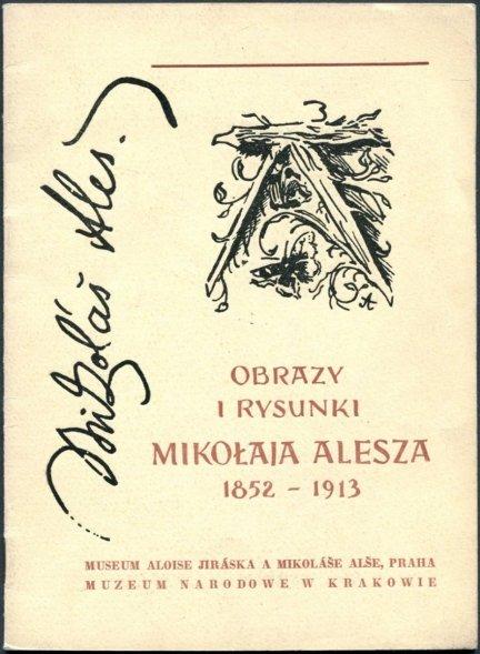 Obrazy i rysunki Mikołaja Alesza (1852-1913). Katalog wystawy.