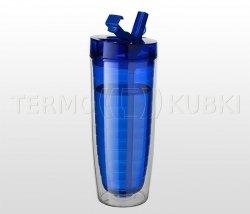 Bidon termiczny 560 ml CLAREC (niebieski)