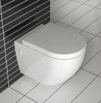 Misa wisząca WC Carlo mini Rimless Lux Cover