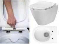 Miska bezrantowa WC CITY OVAL CLEAN ON z deską wolnoopadającą SLIM