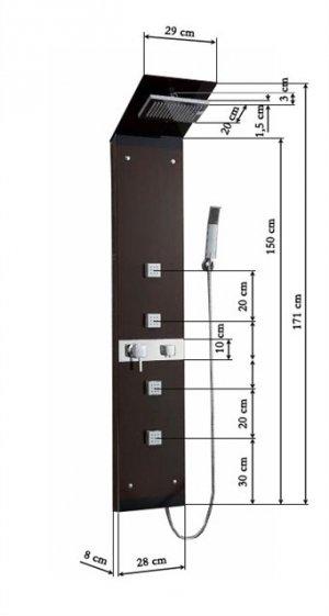 Panel natryskowy Wenge CF-7059