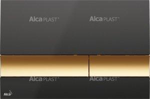 Przycisk czarny/złoty M1728-5